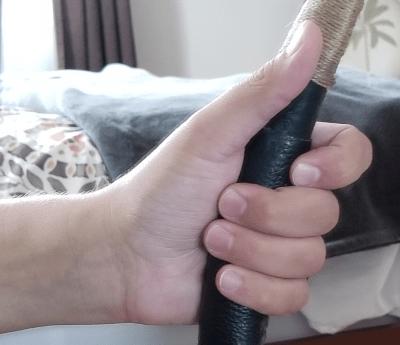 index finger position during Grasping