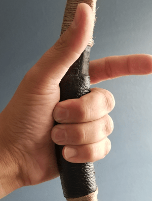 grasping a grip that is too thin