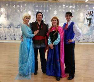 Frozen dance Cast Elsa,kristoff, Anna, Hans