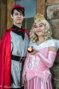 Prince Phillip and Aurora dancers