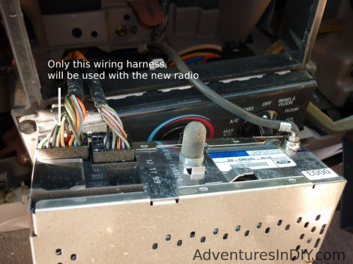 small resolution of factory radio wiring harness