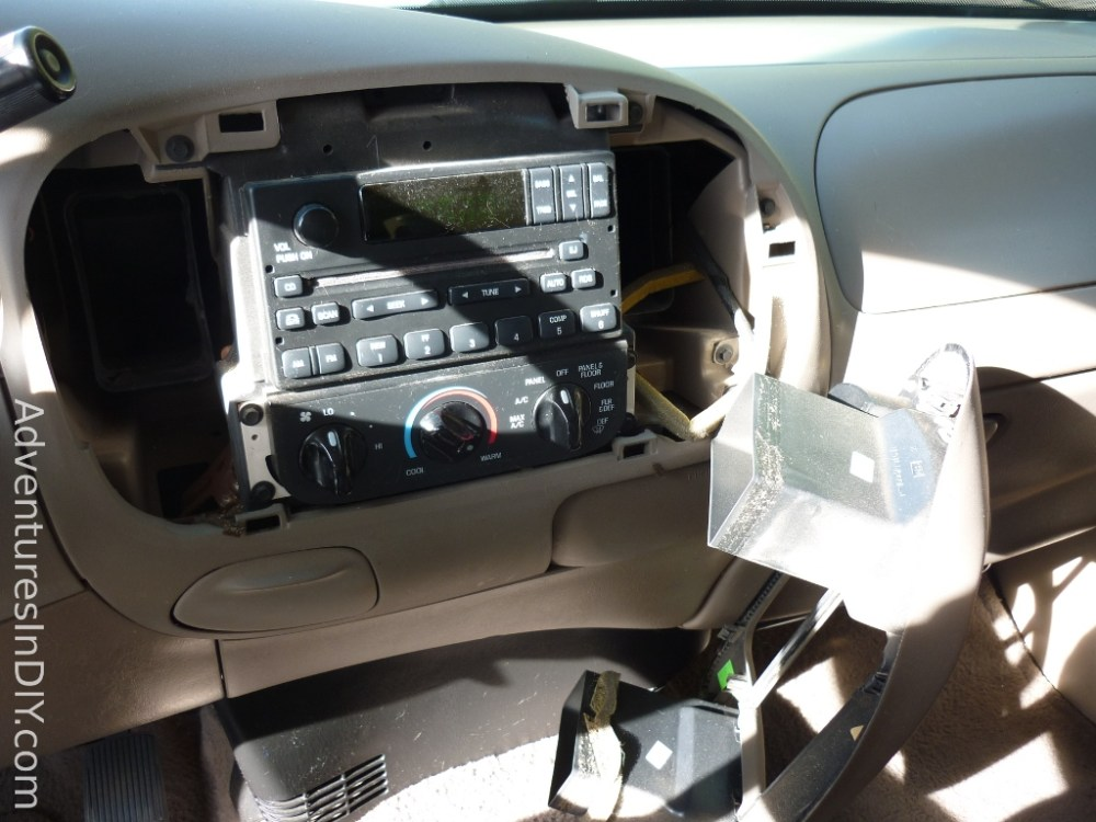 medium resolution of ford f 150 factory radio uninstall and new radio install