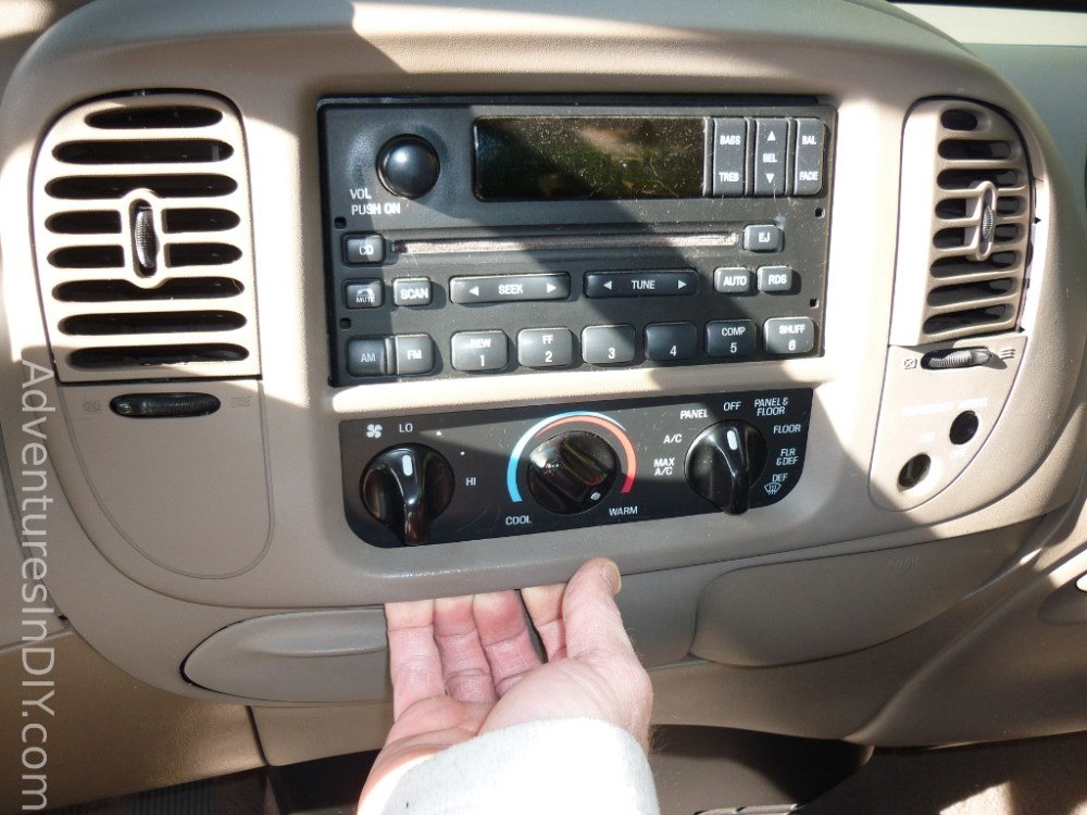 medium resolution of ford f 150 factory radio uninstall and new radio install rh adventuresindiy com 2014 f150 radio