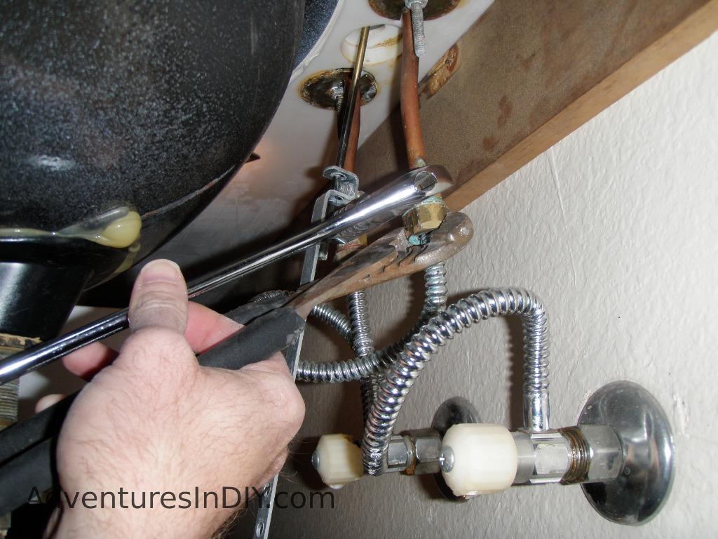 replacing broken water valves