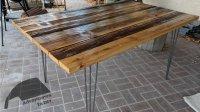 Hairpin Leg Reclaimed Wood Kitchen Table  Adventures In DIY