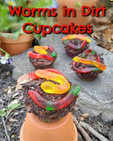 "How to Make Flower and Garden ""Worms in Dirt"" Cupcakes"
