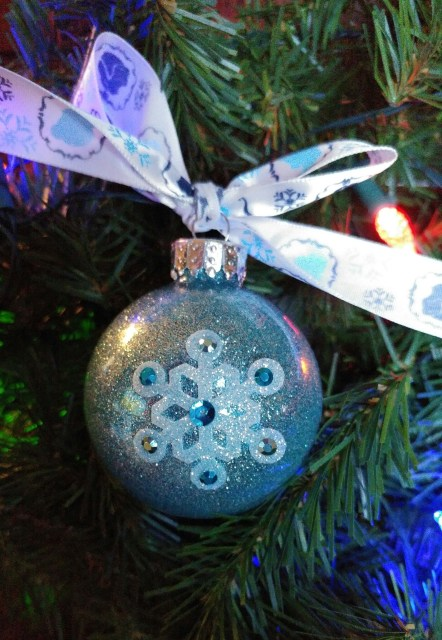 Disney Themed Glitter Ornaments   Frozen Ornament