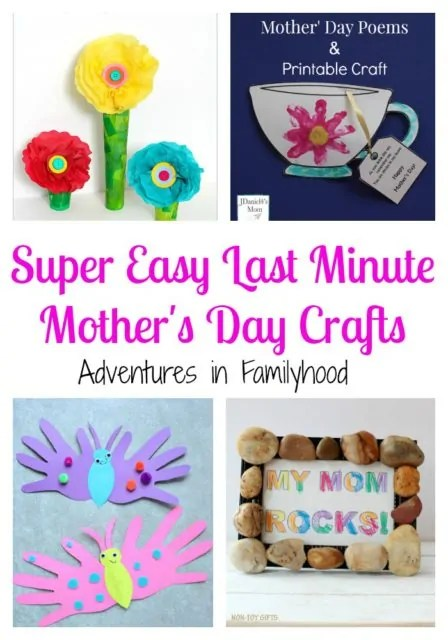 Super Easy Last Minute Mother's Day Crafts | Adventures in ...