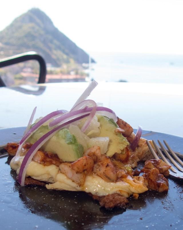 Gordita de Camarón al Pastor at La Marea Restaurant