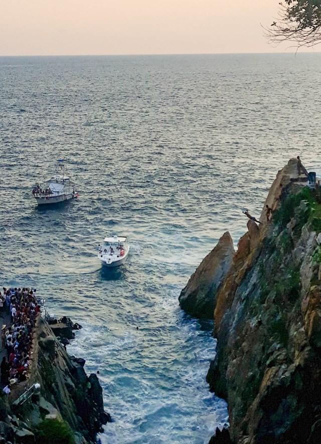 Clavadistas at La Quebrada, Acapulco