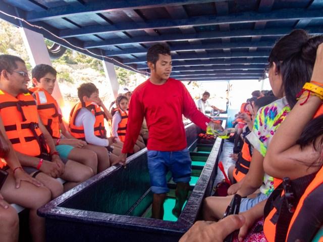 Boat ride to la Isla de la Roqueta