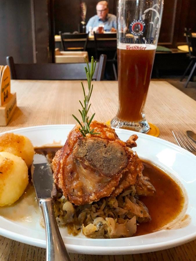 Pork Knuckle, Münchner Stubn Restaurant, Munich, Germany