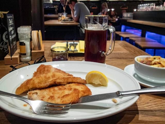 Schnitzel, Münchner Stubn Restaurant, Munich, Germany