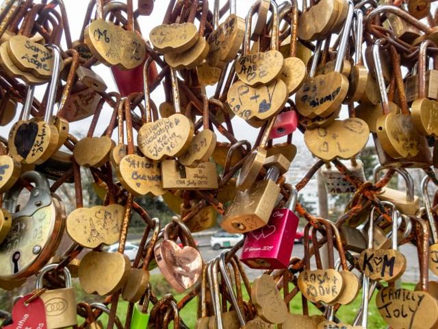 Love locks, Sacré-Cœur Basicila, Paris