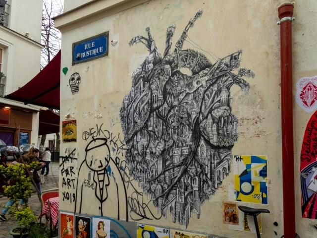 Street art, Montmartre, Paris
