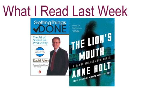 What i read last week