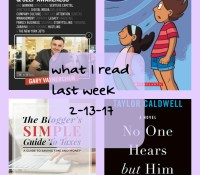What I Read Last Week 2-13-17