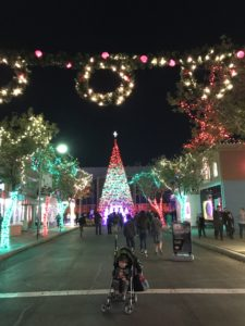 Six Flags Fiesta Texas Holiday in the Park Christmas tree lighting ceremony.