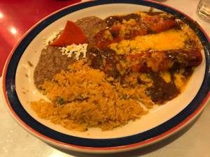 cheese enchilada plate. Mi Tierra Historic Market Square San Antonio Texas