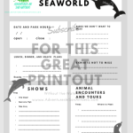 Free Printables for SeaWorld San Antonio Orlando and San Diego Aquatica Printable for San Antonio and Orlando Free with subscription Help plan your day at the park so you don't miss a thing.