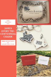 San Antonio Tricentennial Commemorative Charm, courtesy the James Avery Website. Makes a great addition to any charm bracelet. Search their Texas Collection for more inspiration.
