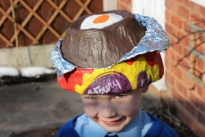 Easter, crafts, bonnets kids