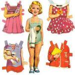 1950's, 1960's, paper dolls, nostalgia
