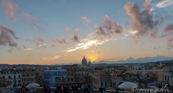 Sunset in Rome, Italy @PennySadler 2014