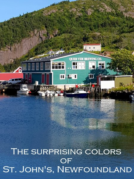 The Surprising Colors of St. Johns, Quidi Vidi