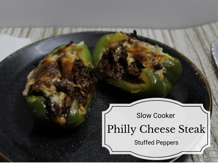 These Slow Cooker Philly Cheese Steak Stuffed Peppers are packed with so much flavor, and warm melted cheese sure to please even the pickiest toddlers.
