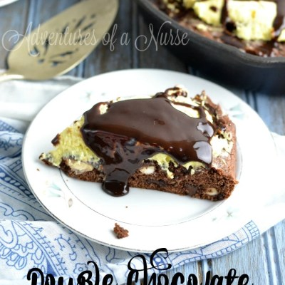 Double Chocolate Skillet Cheesecake Cookie