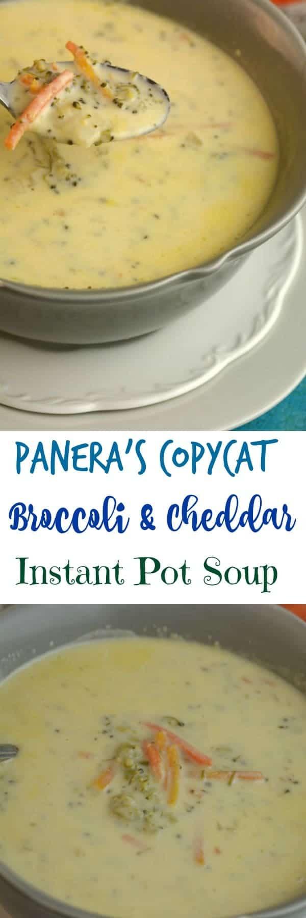panera u0027s copycat broccoli and cheddar instant pot soup