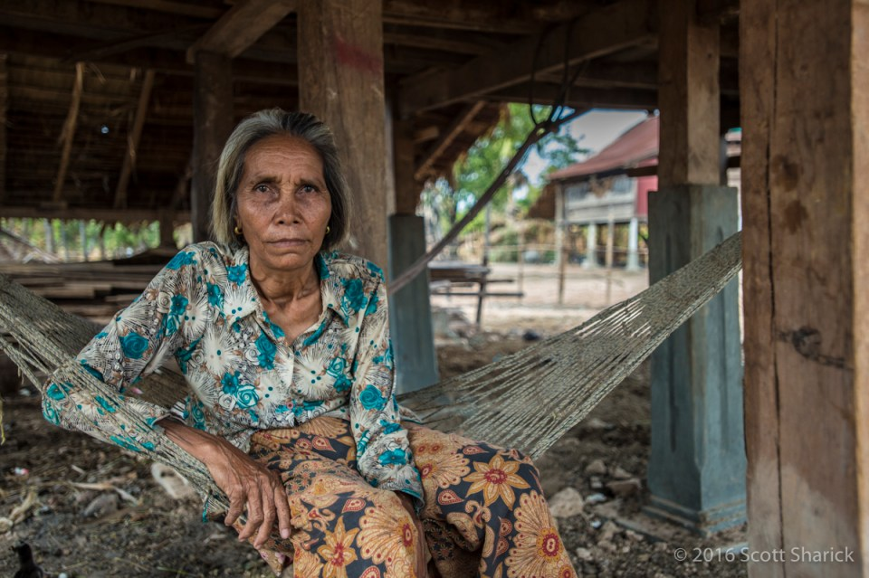 Old woman on my Cambodian road trip.