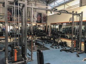 Battambang Fitness Club has plenty of machines and free weights to keep you in shape while visiting Cambodia