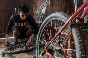 Bicycle mechanics can be few and far between in this part of the world.