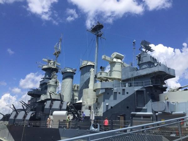 USS North Carolina battleship in Wilmington, NC.