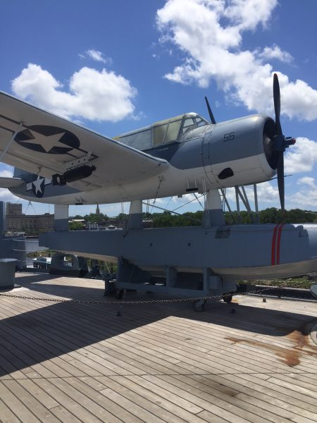Airplane aboard the battleship in Wilmington, NC. Close to Raleigh, NC, It's a great attraction to visit.