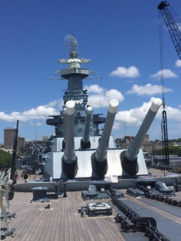 Front of the USS North Carolina in Wilmington, NC