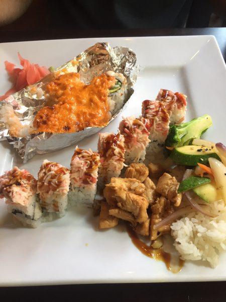 sushi and hibachi at sushi o restaurant in Raleigh, NC