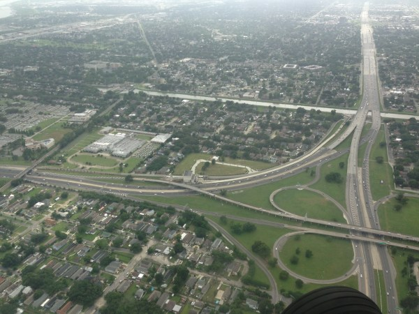 aerial view of new orleans interstate