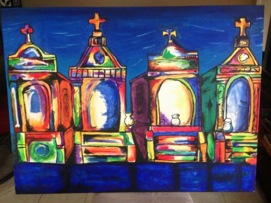 New Orleans Cemetery Painting
