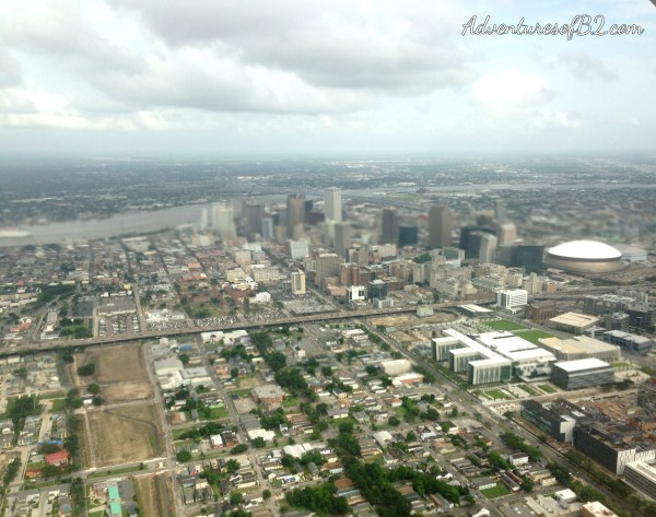 New Orleans Aerial view of the city