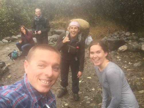 group of people hiking denver wilderness in alaska