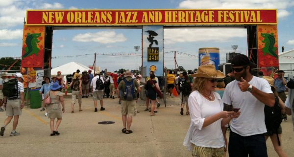 The entrance to Jazzfest in New orleans. One of the most popular festivals held here as musicians from all over the world come to perform. Enjoy the food, and music for 2 weekends in the spring.