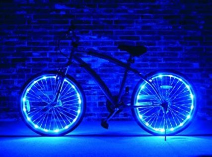Let your bike be seen at night with bike rim lights! Choose from a variety of colors for an awesome bike ride at night. For more unique gifts, visit adventuresofb2.com
