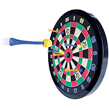 Let the kids have a little fun with a dart board. For more interesting gifts for kids, visit adventuresofb2.com