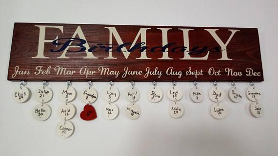 family birthday board etsy