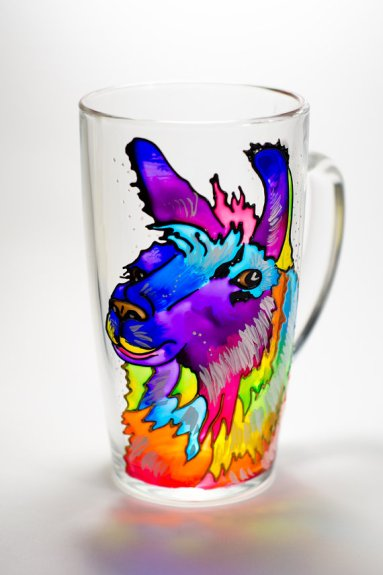 Get your own unique handpainted llama mug off of etsy! Find more unique gift ideas over at adventuresofb2.com