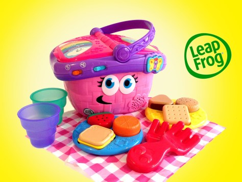 Let your child learn with leap frog's picnic shapes. An interactive picnic basket complete with simple food shapes and cups. For more great christmas gifts for toddlers, visit: adventuresofb2.com