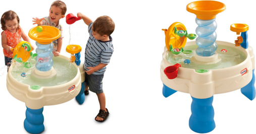 Let the kids have fun learning with a water table! For more gift ideas for toddlers, go to adventuresofb2.com